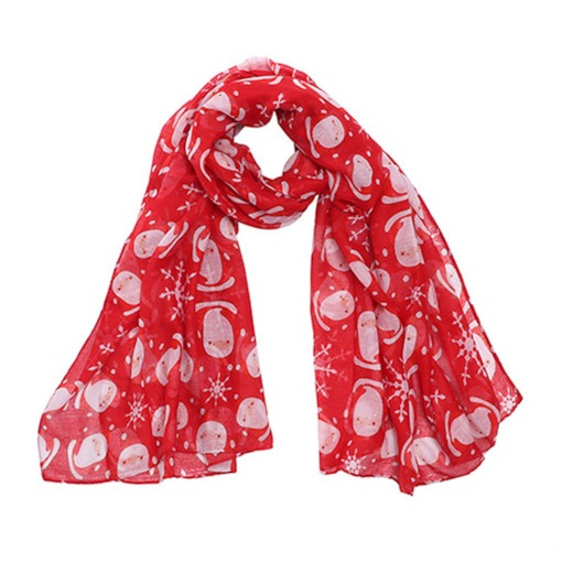 Christmas Santa Claus Cartoon Scarves