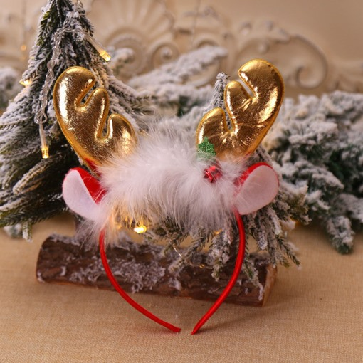 Christmas Hairband Cartoon Deer Horn Gift Hair Accessories