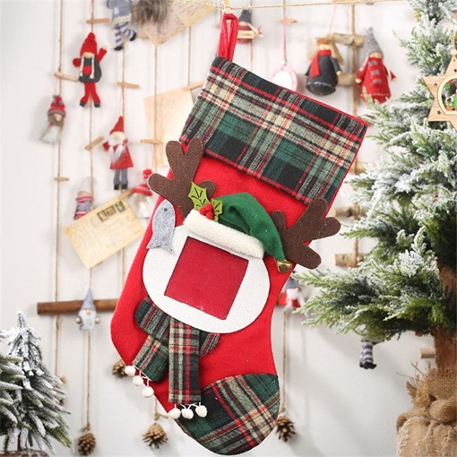 Cloth Cartoon Decoration Christmas Stocking