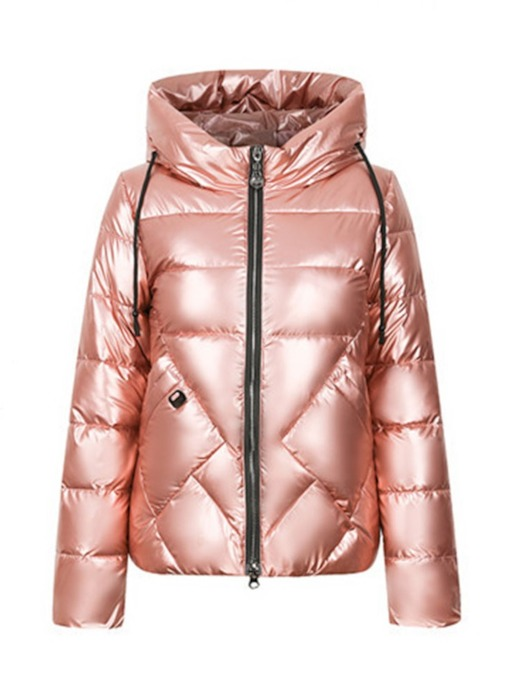 Zipper Zipper Straight Standard Women's Cotton Padded Jacket