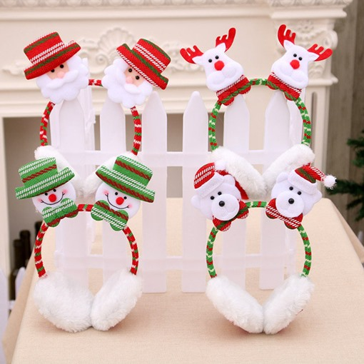 Christmas Cartoon Santa Clause Earmuffs
