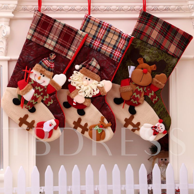 Cloth Cartoon Christmas Stocking