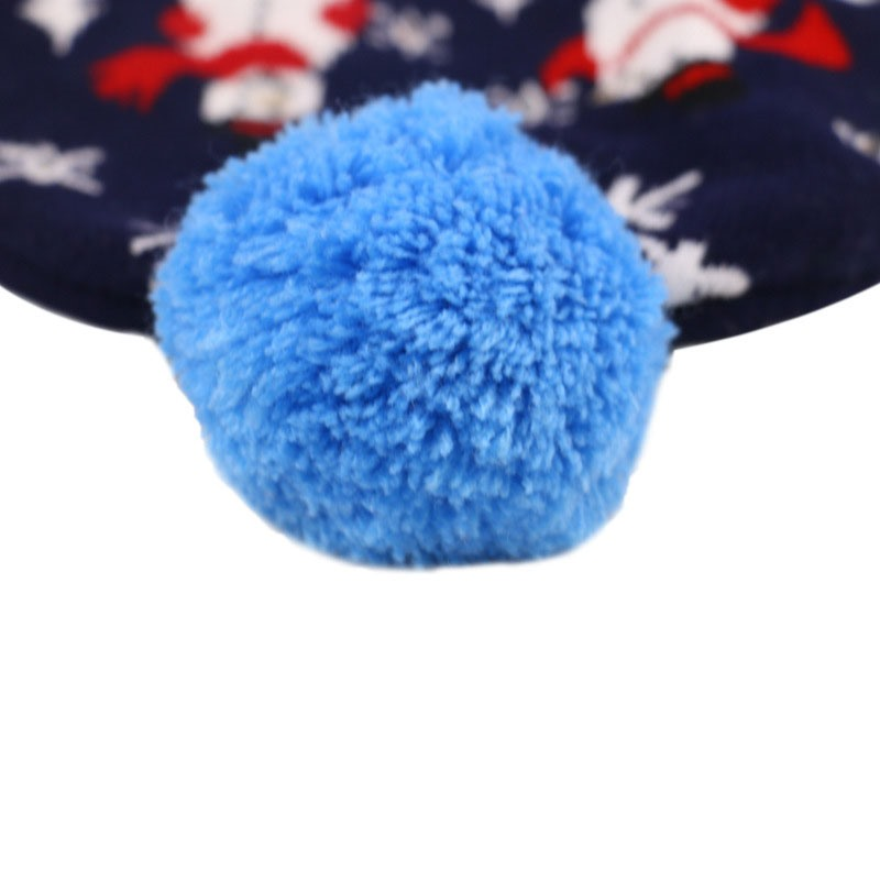 Christmas Pompon Knitted Hat