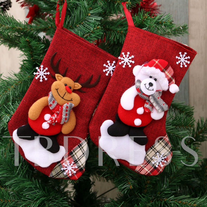 Christmas Cartoon Decoration Socks