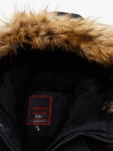 Hooded Zipper Mid-Length Color Block Zipper Men's Down Jacket