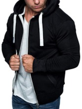 Fleece Zipper Cardigan Men's Hoodies