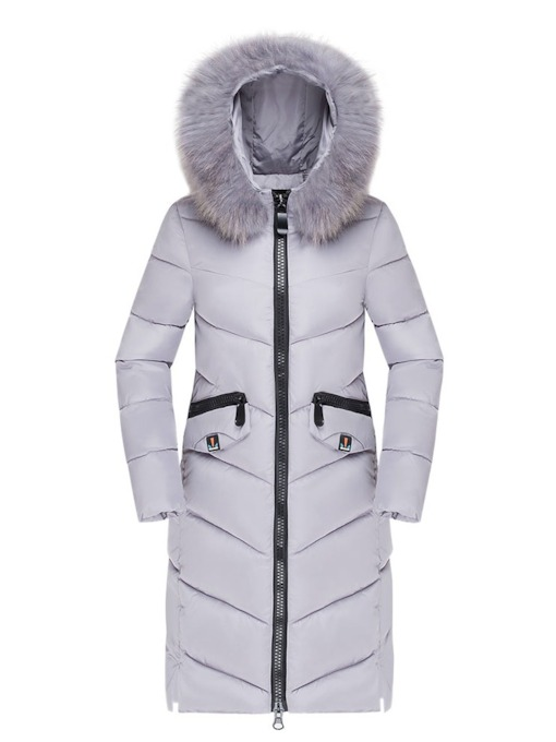 Loose Zipper Long Women's Cotton Padded Jacket