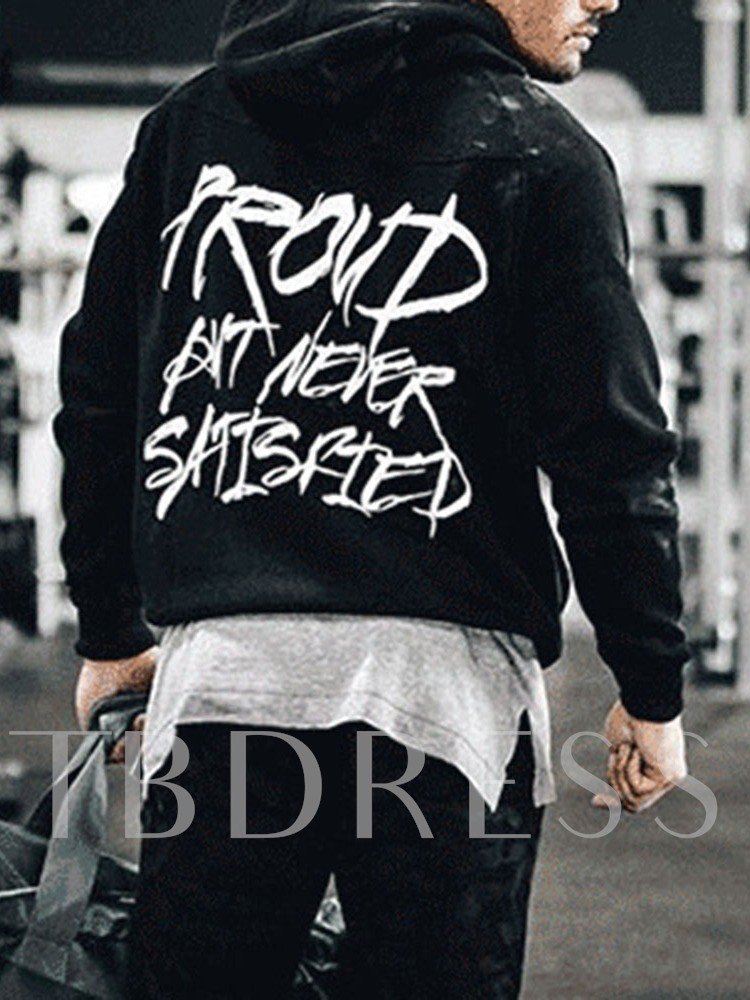 Pullover Print Letter Casual Men's Hoodies