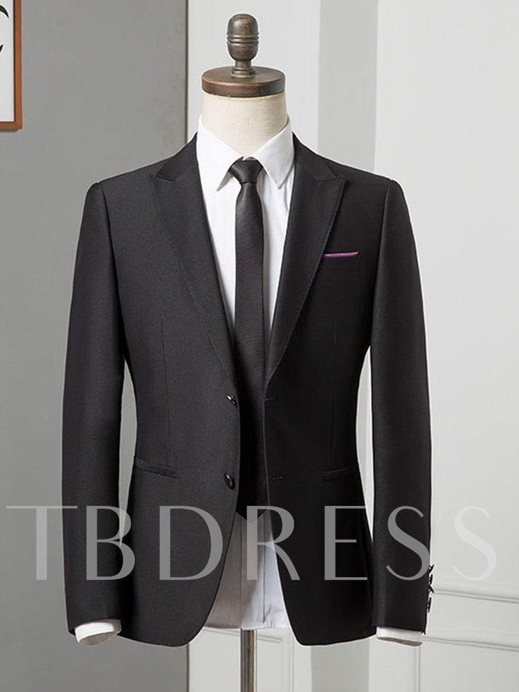 Single-Breasted Button Pants Formal Men's Dress Suit