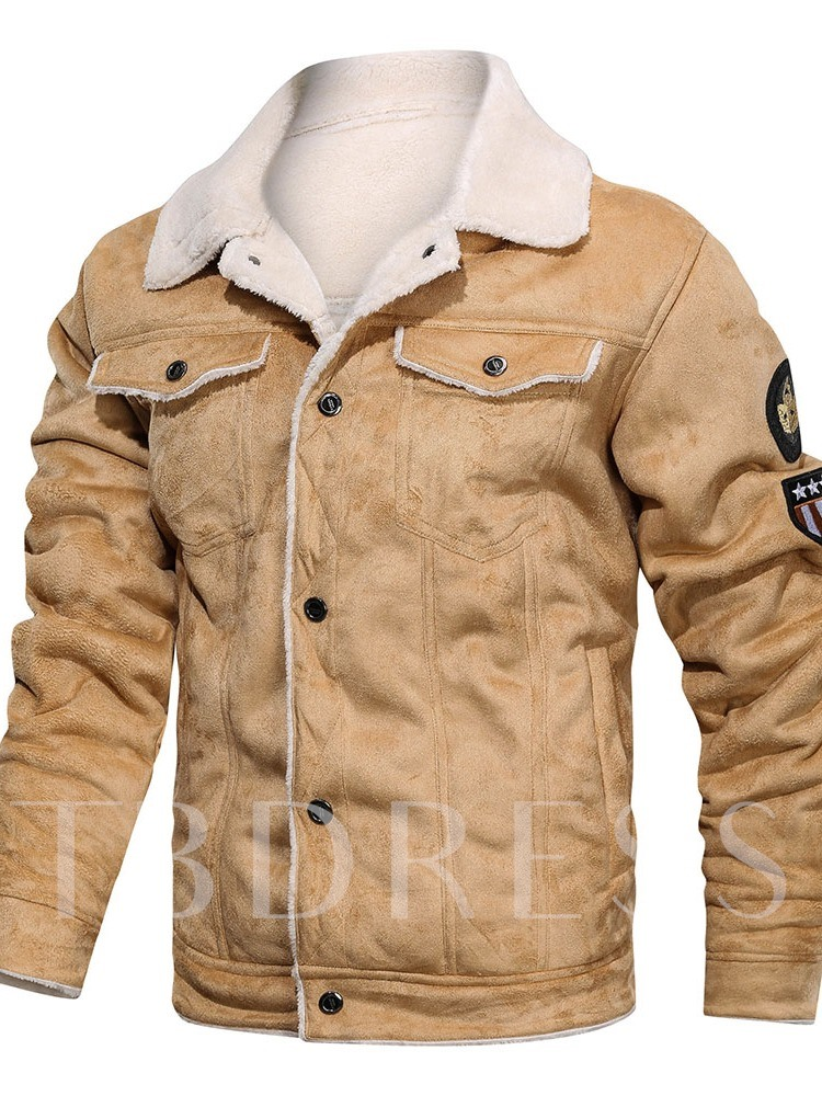Lapel Thick Button European Men's Jacket