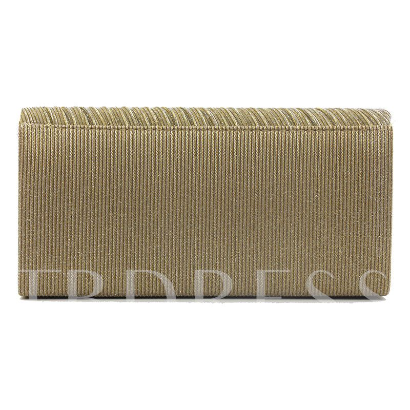 Concise Pleated Design Women Clutch