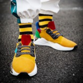 Low-Cut Upper Flat With Lace-Up Round Toe Men's Sneakers