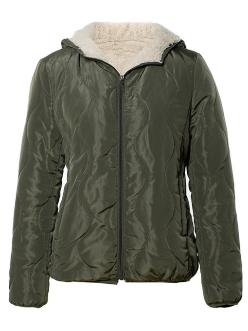 Slim Patchwork Standard Women's Cotton Padded Jacket