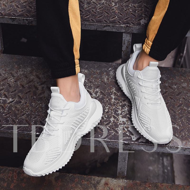 Lace-Up Flat With Low-Cut Upper Mesh Men's Sneakers