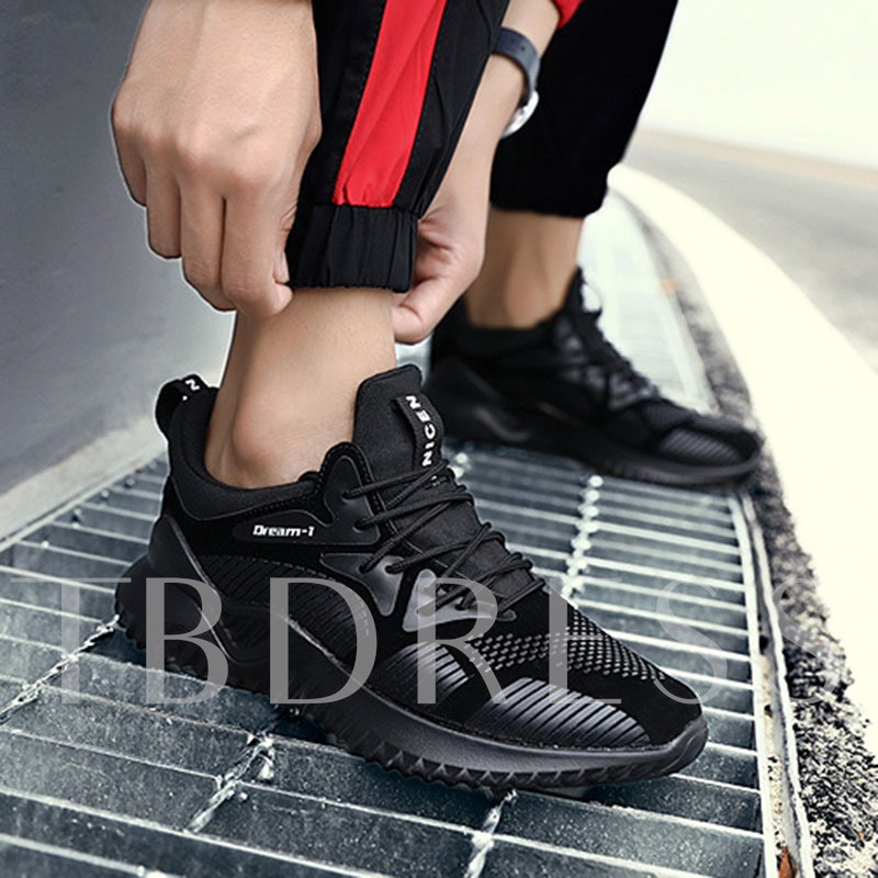 Round Toe Lace-Up Professional Men's Sneakers