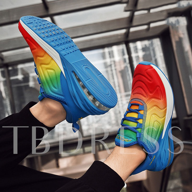 Lace-Up Low-Cut Upper Round Toe Men's Running Sneakers