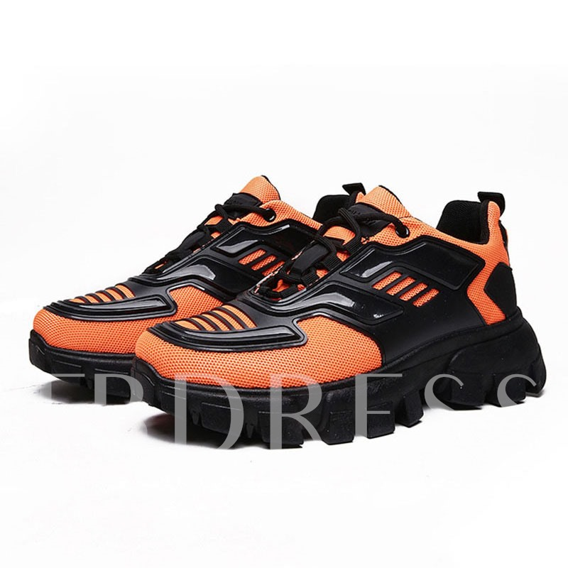 Lace-Up Round Toe Chunky Chic Men's Sneakers