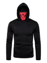 Pocket Color Block Pullover Slim Men's Hoodies