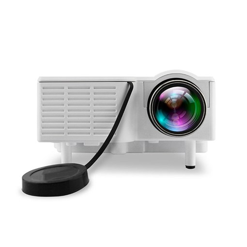 Home White HD Mini Home Projector Phone Mini Portable Projector