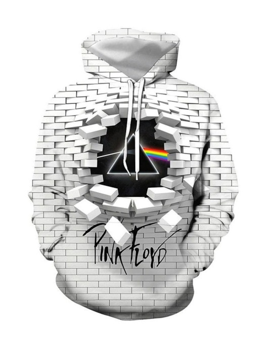 3D Color Block Pullover Men's Hoodies