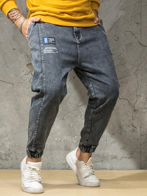Pocket Zipper Men's Jeans