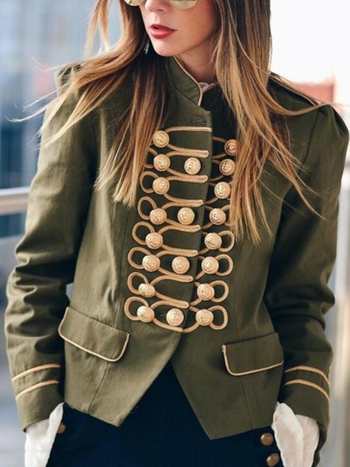 Slim Single-Breasted Long Sleeve Thin Stand Collar Women's Jacket
