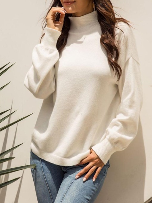 Thin Regular Stand Collar Women's Sweater