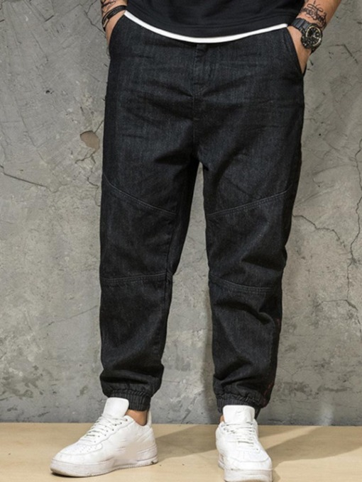 Pocket Color Block Men's Casual Pants