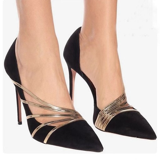 Pointed Toe Stiletto Heel Slip-On Low-Cut Upper Pumps