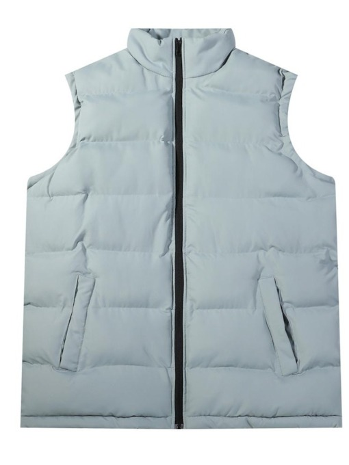 Plain Zipper Thick Stand Collar Winter Men's Waistcoat