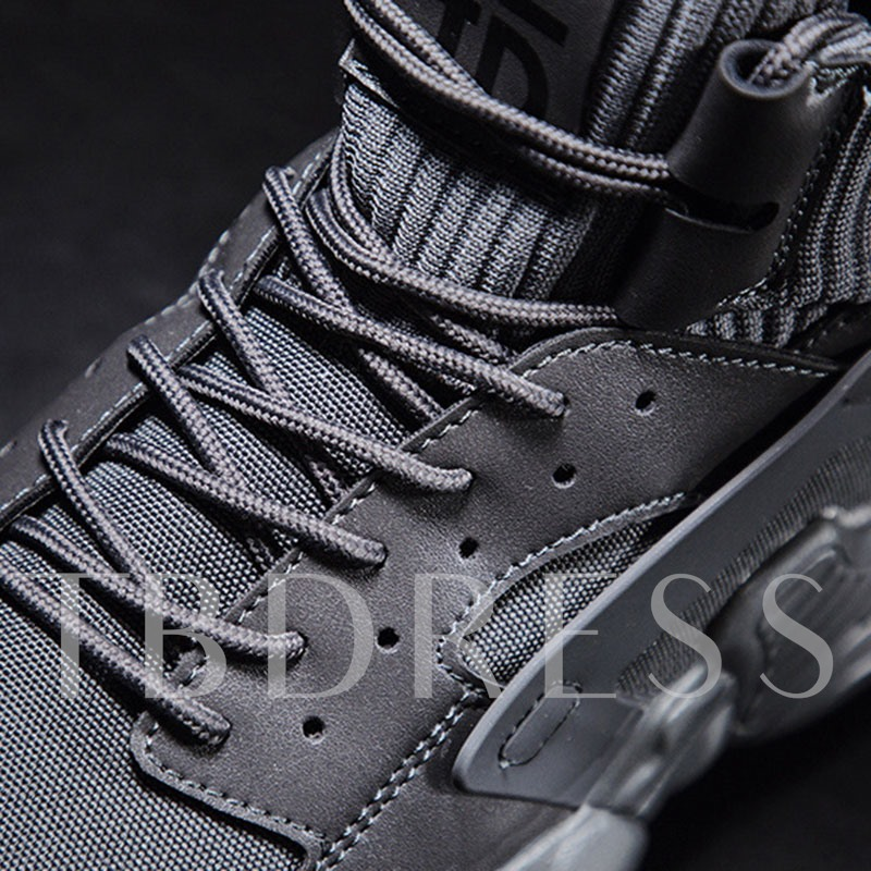 Lace-Up Sports Mid-Cut Upper Lace-Up Men's Sneakers