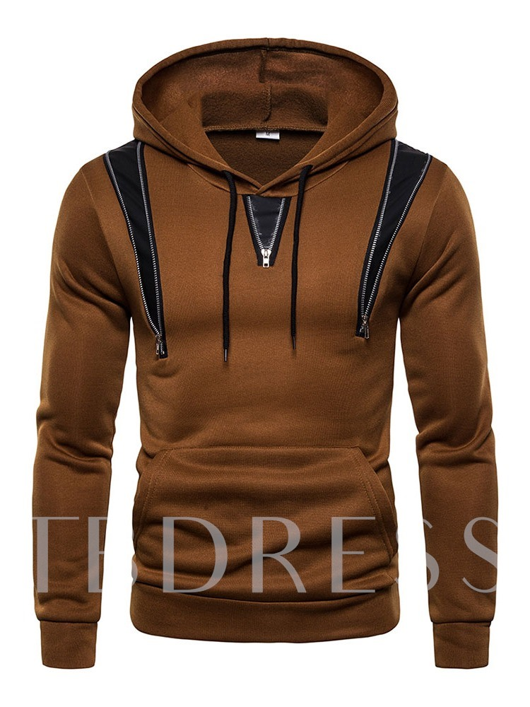 Patchwork Color Block Pullover Men's Hoodies