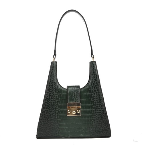 Thread Alligator PU Chic Rectangle Shoulder Bags