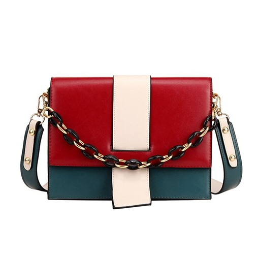 PU Patchwork Rectangle Cross Body Bags