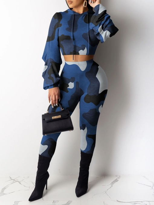 African Fashion Color Block Casual Women's Two Piece Sets