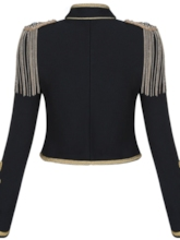 Slim Long Sleeve Short Women's Jacket