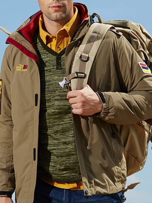Thick Stand Collar Sports Men's Jacket