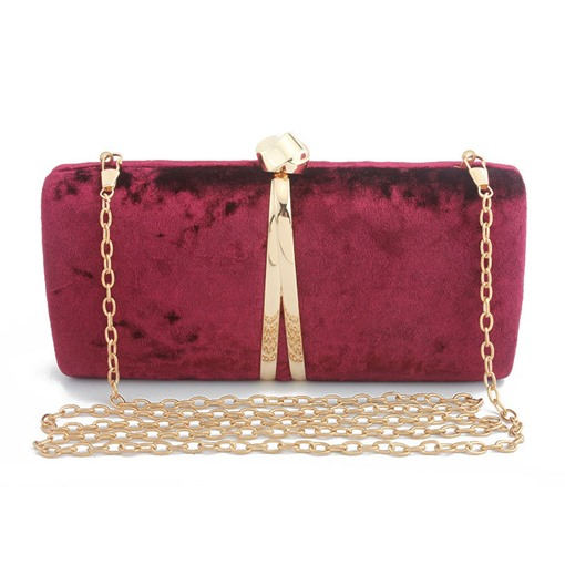 Banquet Rectangle Velour Clutches & Evening Bags