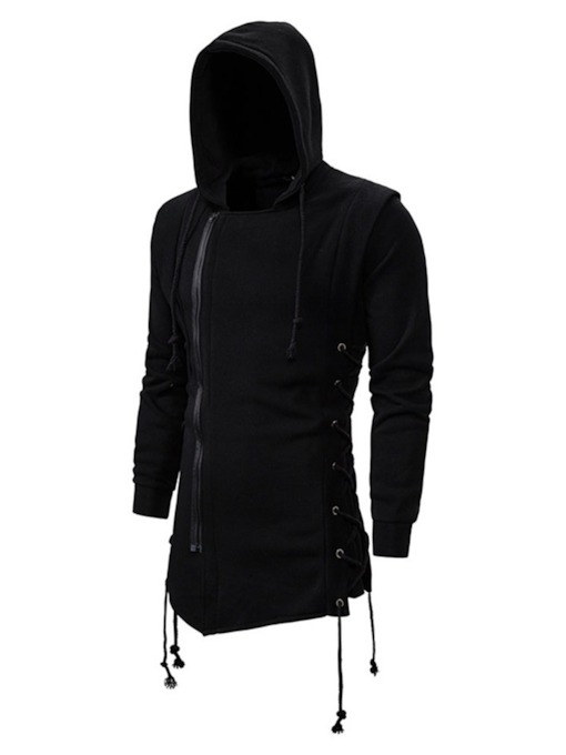 Cardigan Zipper Plain Men's Hoodies