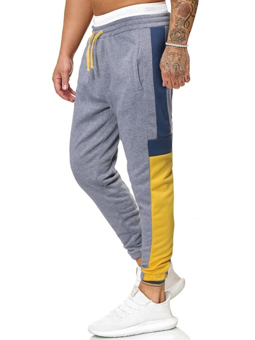 Block Pocket Men's Casual Pants