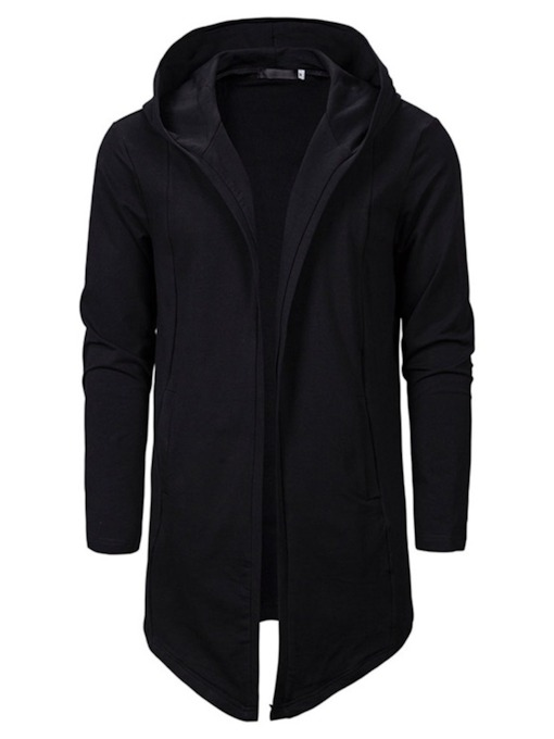 Plain Cardigan Men's Hoodies