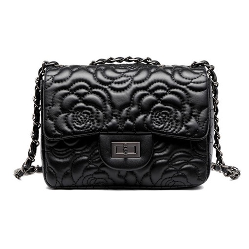 PU Floral Chain Rectangle Crossbody Bags