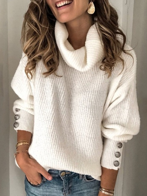 Long Sleeve Turtle Neck Women's Sweater