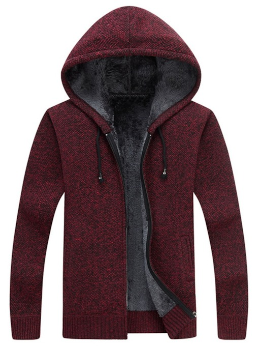 Plain Hooded Standard Men's Sweater