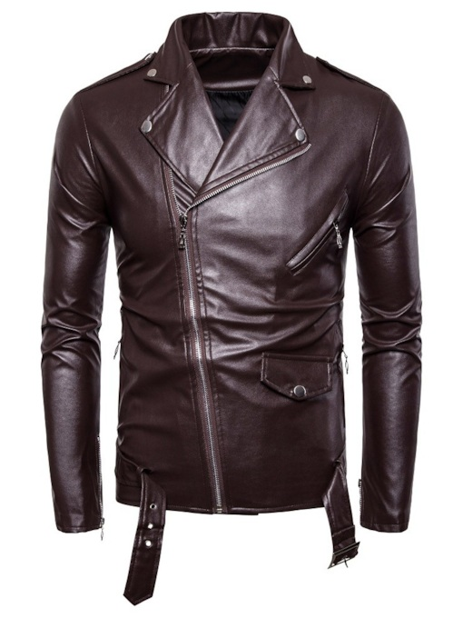 Plain Lapel Slim Men's Jacket