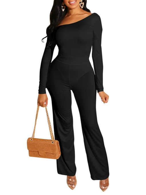 Casual Plain Slim Women's Jumpsuit