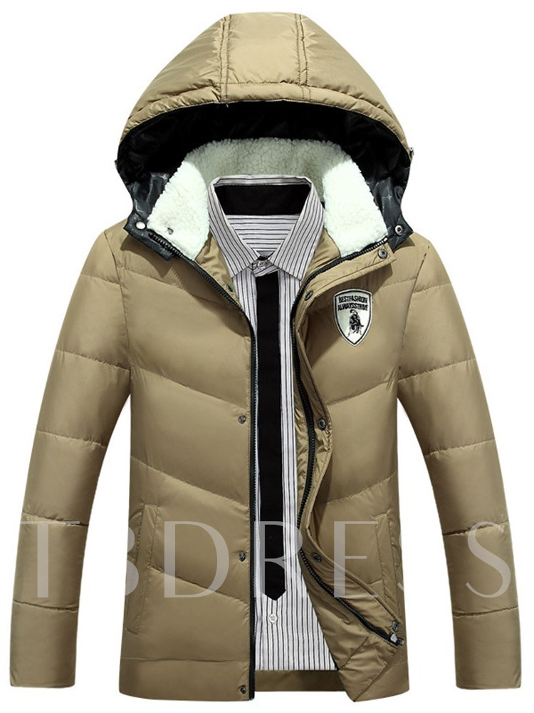 Hooded Standard Casual Men's Down Jacket