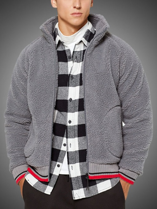 Cardigan Color Block Thick Zipper Loose Men's Hoodies