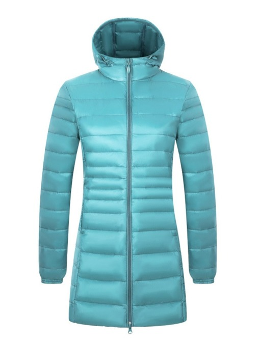 A Line Zipper Mid-Length Women's Cotton Padded Jacket