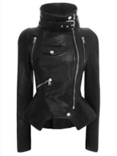 Slim Zipper Standard PU Women's PU Jacket